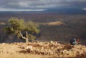 Etude d'une citerne sur l'acropole d'Igiliz