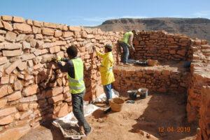 Restauration de la pièce de réception principale dans la Qasba